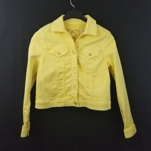NWT Michael Kors Yellow Jean Jacket Size M